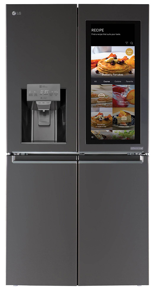 LG InstaView Door in Door ThinQ Smart Refrigerator Stainless Steel Four Door