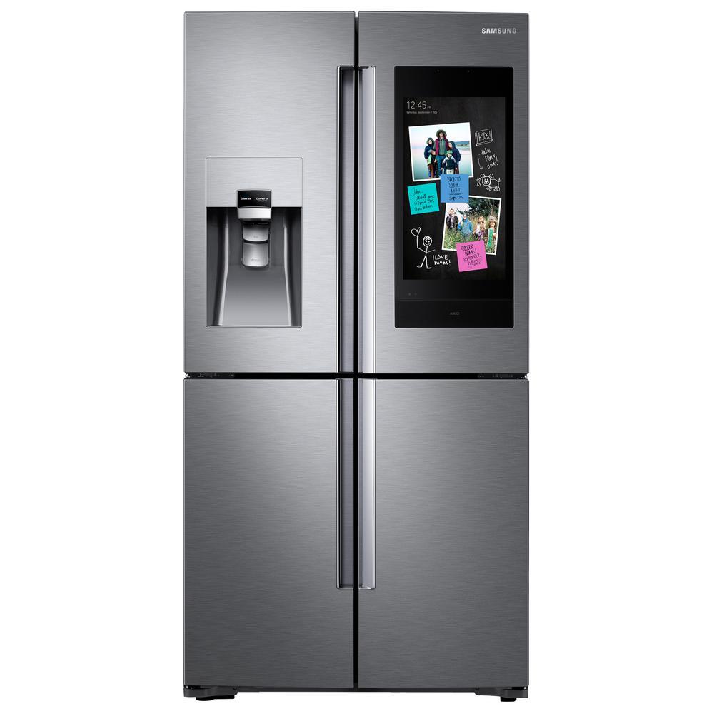 Samsung Family Hub Refrigerator Stainless Steel French Door RF22K9581S