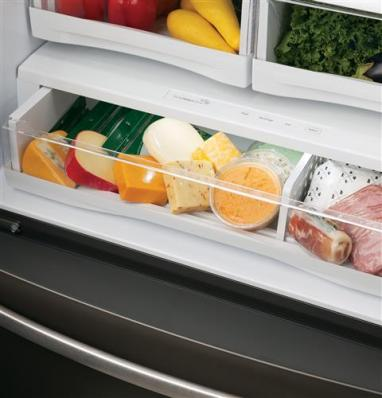 GE Profile Series Refrigerators - Full Width Drawer Feature