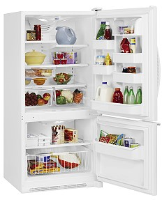 Amana ABB1921DEW Bottom Freezer Refrigerator