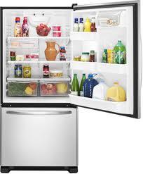 Amana ABB1924WES Stainless Steel Bottom Freezer Refrigerator
