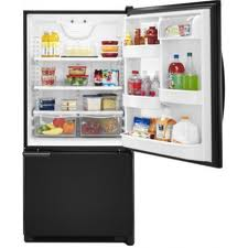 Amana ABB2221WEB Black Bottom Freezer Refrigerator
