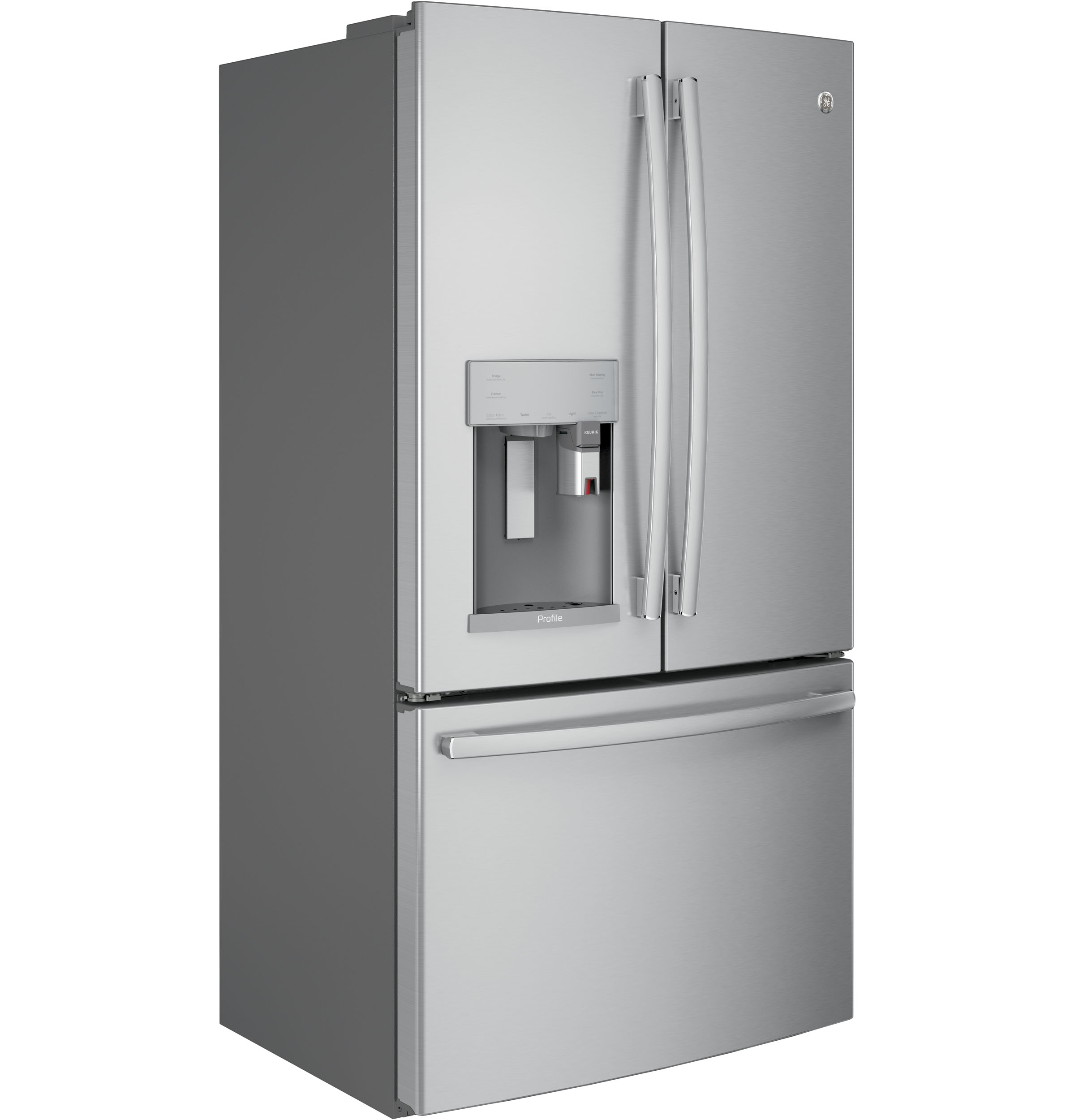 GE Profile Series PFE28PSKSS French Door Refrigerator with K-Cup Brewing System