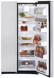 GE PSI23SCRSV Side by Side Refrigerator Open