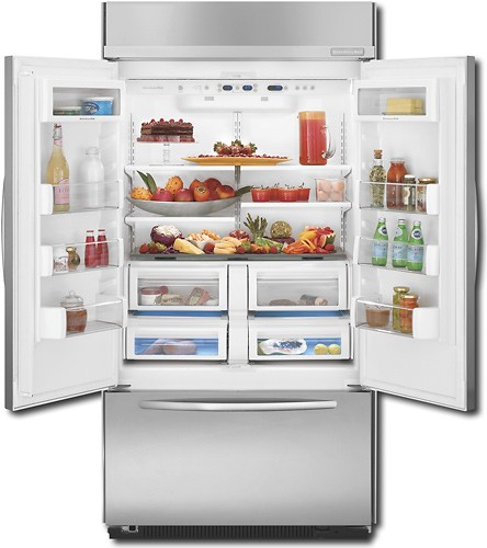 KitchenAid KBFC42FTS French Door Refrigerator Open