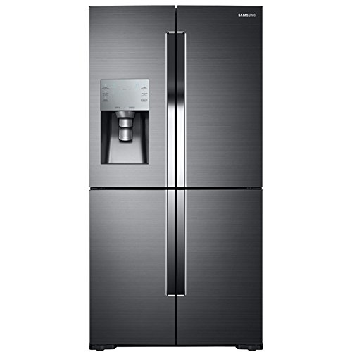Samsung Four Door Refrigerator RF28K9380SG with Flex Zone and Food Showcase features.