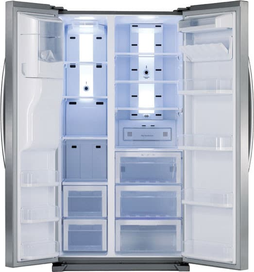 Samsung RSG257AARS Side by Side Refrigerator - Open