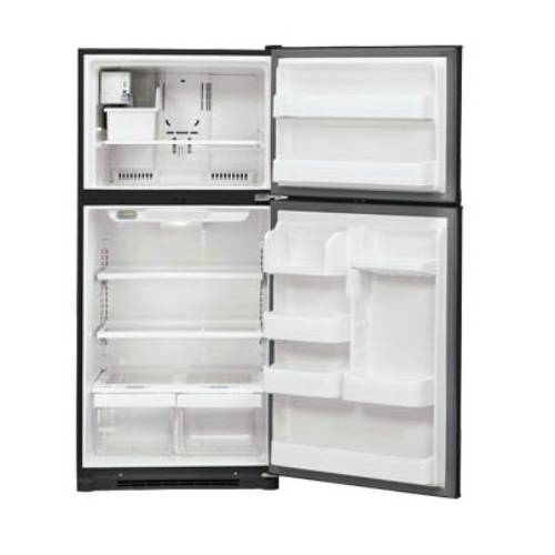 lLG LTC19340SB Top Mount Refrigerator OPEN
