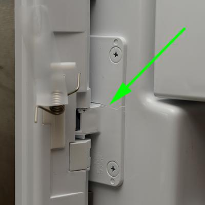 lg refrigerator parts door. cracked hinge and spring popped out lg refrigerator parts door