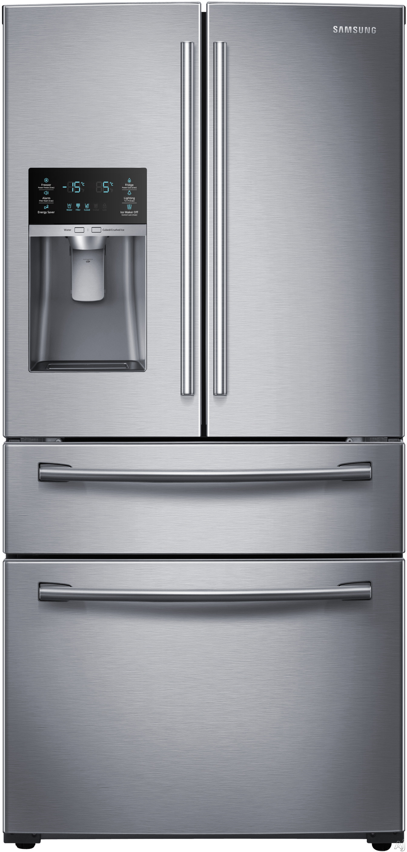 Samsung rf28hdedbsr french door refrigerator review dual door french door refrigerator with a 189 cu ft refrigerator rubansaba