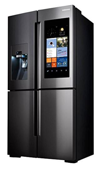 Samsung Family Hub Refrigerator Black Stainless Steel French Door Flex 4