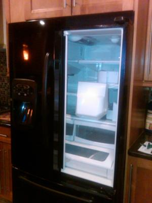 Our Open Air Maytag ICE 2-0 without the right side door!!!! Talk  about OPEN AIR!